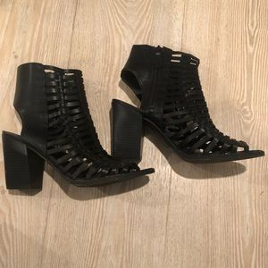 Heeled Gladiator Sandals Black